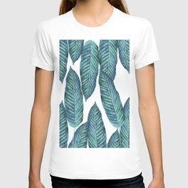Blue Banana Leaves #society6 T-Shirt