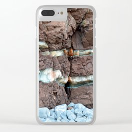 Colourful Rock Abstract Clear iPhone Case