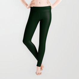 Simply Tree Green Color Leggings
