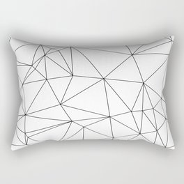 Black and White Geometric Minimalist Pattern Rectangular Pillow