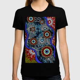 Aboriginal Art – Camping T-shirt