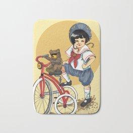Sailor Biker girl Bath Mat