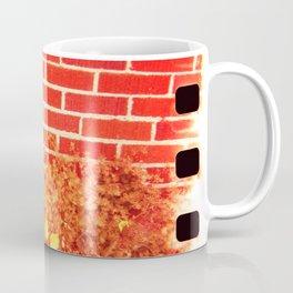 holga flowers x-processed with flowers and brick Coffee Mug
