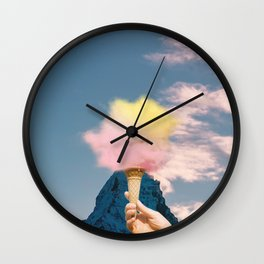 Low fat strawberry ice cream Wall Clock
