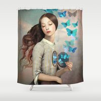 christian Shower Curtains featuring Set Your Heart Free by Christian Schloe