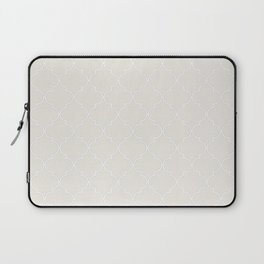 Coconut Milk Quatrefoil Laptop Sleeve