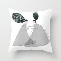 best friend Throw Pillows featuring Best friend by yael frankel