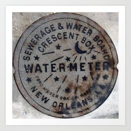 Street Water Meter - New Orleans LA Art Print