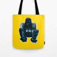 gorilla Tote Bags featuring gorilla by jenapaul