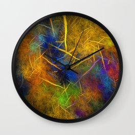 Fractal Lightning (Storm Flame) Wall Clock