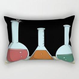 Flask stoppers test tube chemistry Rectangular Pillow