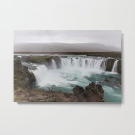 Godafoss waterfall in Iceland - nature landscape Metal Print