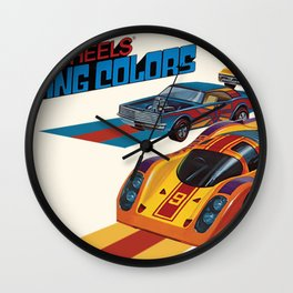 Vintage 1974 Hot Wheels Flying Colors Redline Vintage Poster Wall Clock