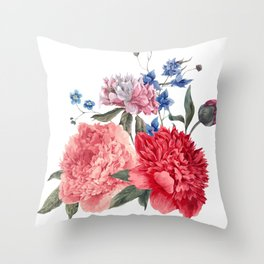 Beautiful PINK, ROSE AND BLUE - Jersey Beauty Flower Throw Pillow
