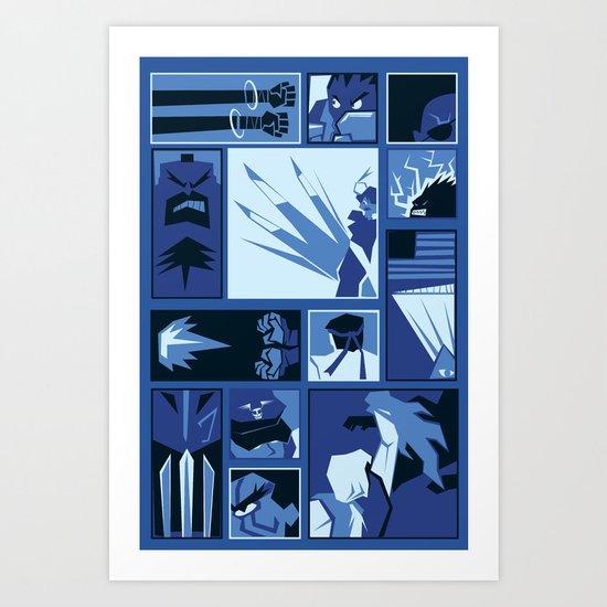 Street Fighter II Art Deco Art Print
