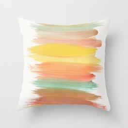 Abstract Watercolour Art II Throw Pillow