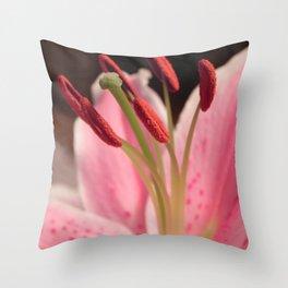 Lily Stem Throw Pillow