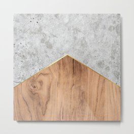 Concrete Arrow Wood #345 Metal Print