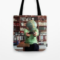 globe Tote Bags featuring Globe by Kelly Nicolaisen