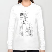 gentleman Long Sleeve T-shirts featuring Gentleman by Mike Koubou