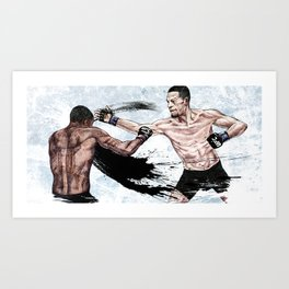 Nate Diaz vs. Michael Johnson Art Print
