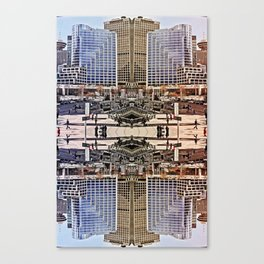 Downtown Mirrored Canvas Print