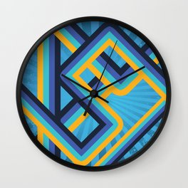 Geometric abstract lines Wall Clock