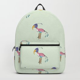 Odd Bird pattern in green Backpack
