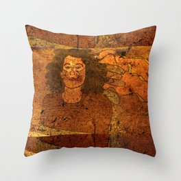 CatUna / Portrait Throw Pillow