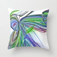 tie dye Throw Pillows featuring Tie Dye by Shalisa Photography