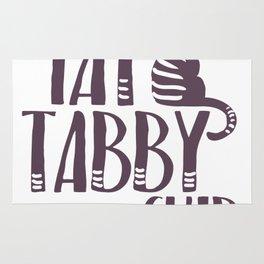 Fat Cat Tabby kitty Rug