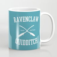 ravenclaw Mugs featuring Hogwarts Quidditch Team: Ravenclaw by IA Apparel