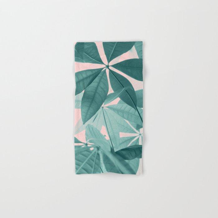 Pachira Aquatica 5 Foliage Decor Art Society6 Hand Bath Towel