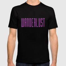Wanderlust III Mens Fitted Tee Black MEDIUM