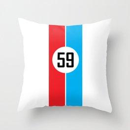 Brumos Racing Stripes Throw Pillow
