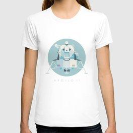 Apollo 11 Lunar Lander Module - Text Sky T-shirt