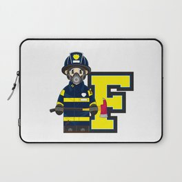 F is for Fireman Laptop Sleeve