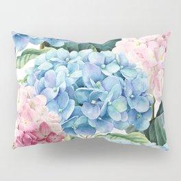 Pink Blue Hydrangea Pillow Sham