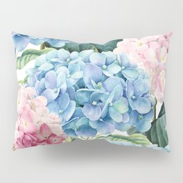 Pink Blue Hydrangea Kissenbezug