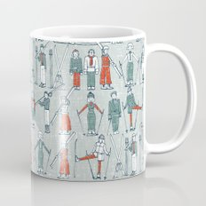 vintage ski linen Mug