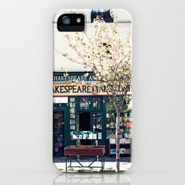 Cherry blossoms in Paris, Shakespeare & Co. iPhone Case