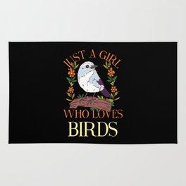 BIRDKEEPER: Just A Girl Who Loves Birds Bird Lover Watching Mom Keeper Rug