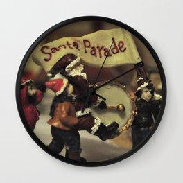 Santa Parade Wall Clock