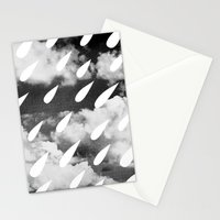 Storm Clouds + Droplets Stationery Cards