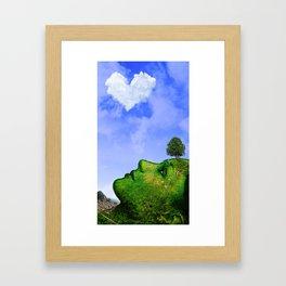Mother Nature Smiling Framed Art Print