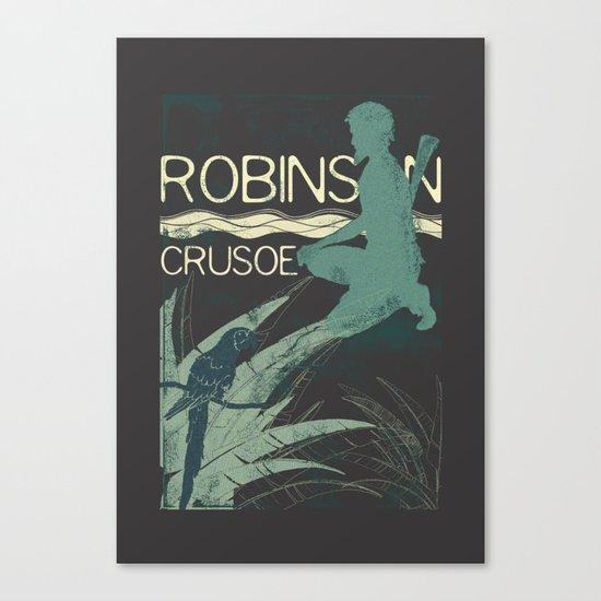 Books Collection: Robinson Crusoe Canvas Print