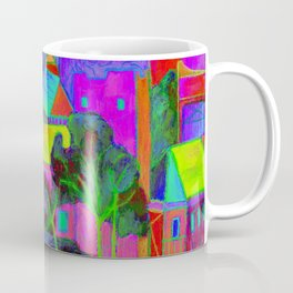 Mikulov Castle - Violet Coffee Mug