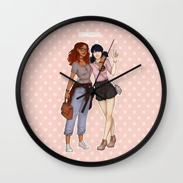 Marinette and Alya Wall Clock