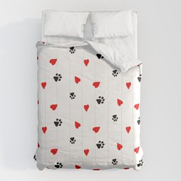 Dog Paws Heart Comforters