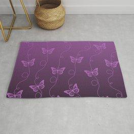 Purple Butterflies Pattern Rug